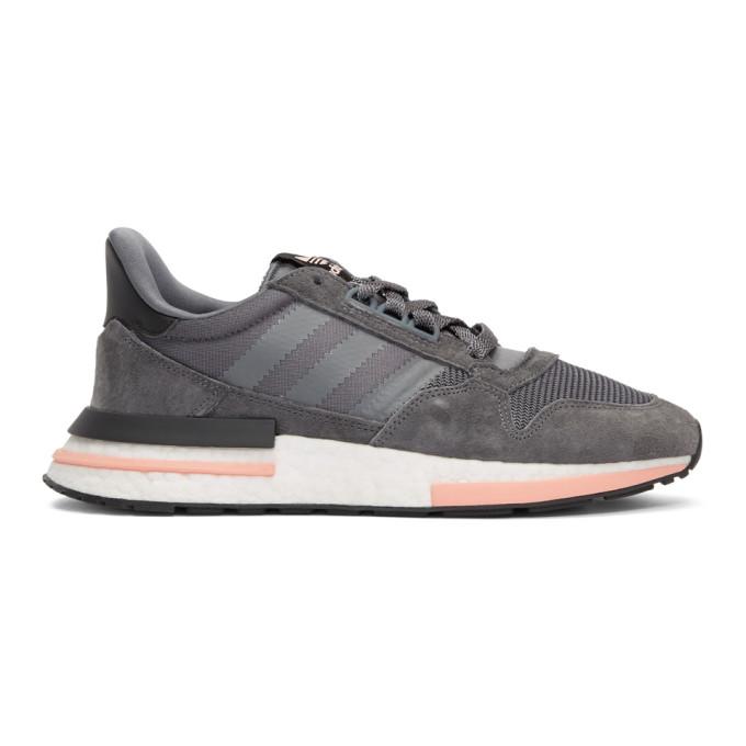 adidas Originals Grey & Pink ZX 500 RM Sneakers