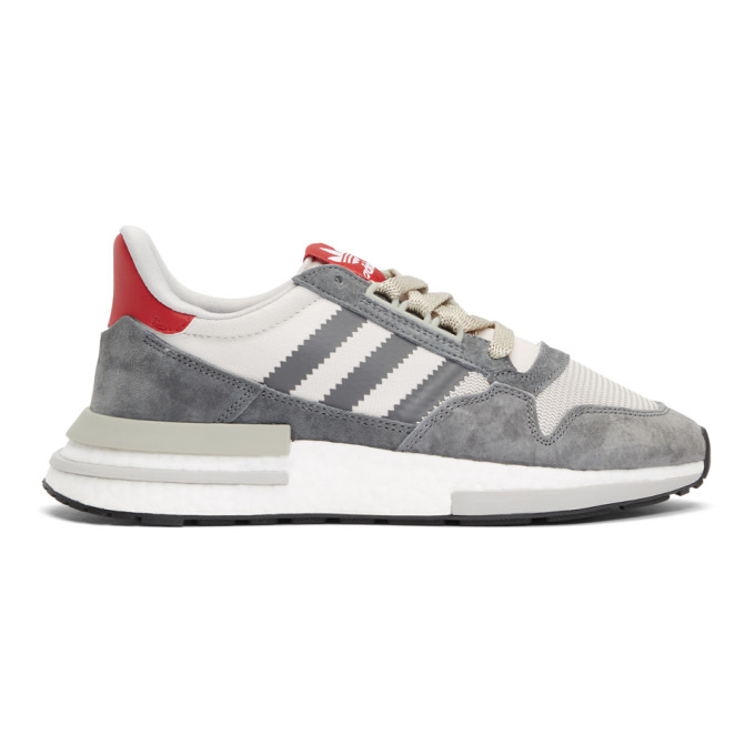 adidas Originals Grey & Red ZX 500 RM Sneakers