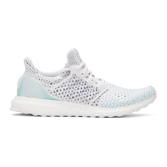 adidas Originals White & Blue UltraBOOST Parley PK Sneakers