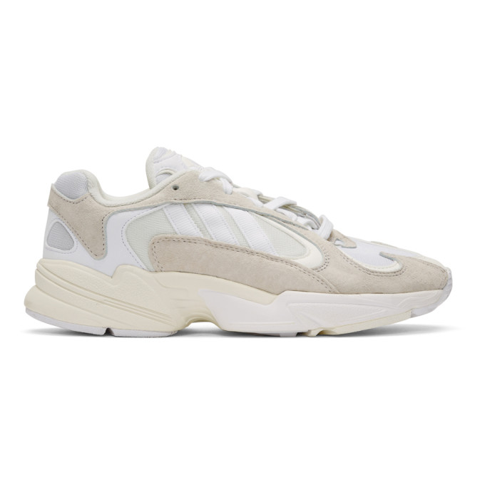 adidas Originals White Yung-1 Sneakers