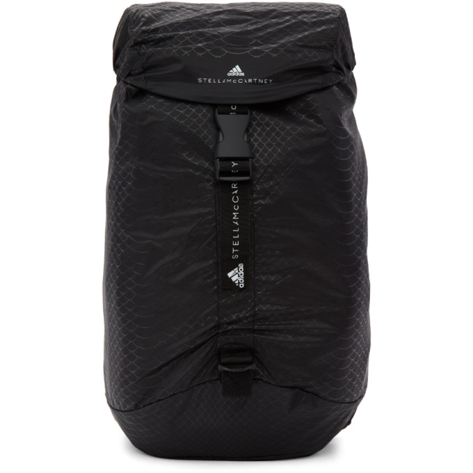 Image of adidas by Stella McCartney Black Small Adizero Backpack