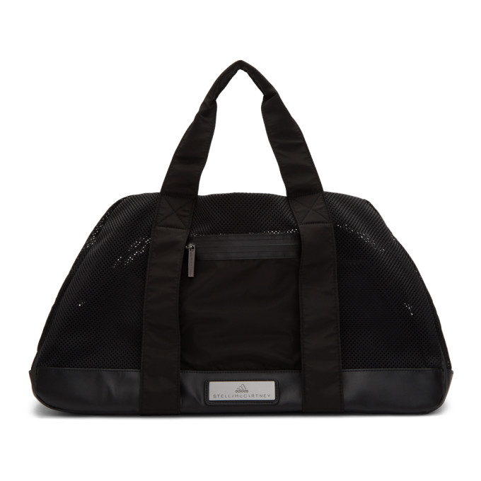 Image of adidas by Stella McCartney Black Medium Logo Duffle Bag