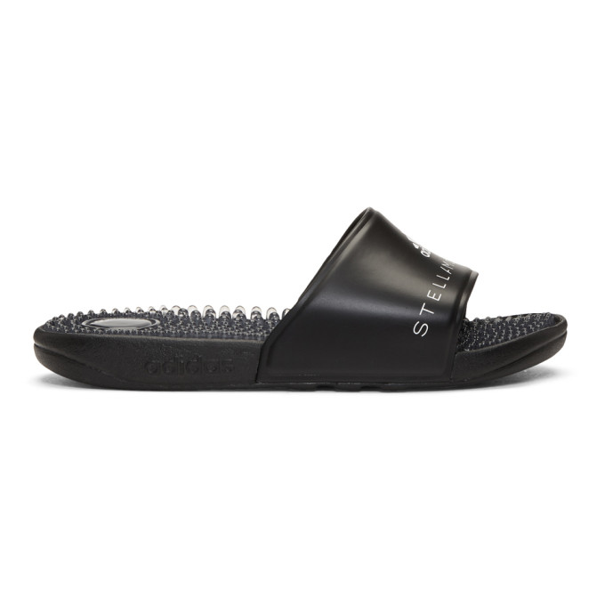 Image of adidas by Stella McCartney Black Adissage Pool Slides