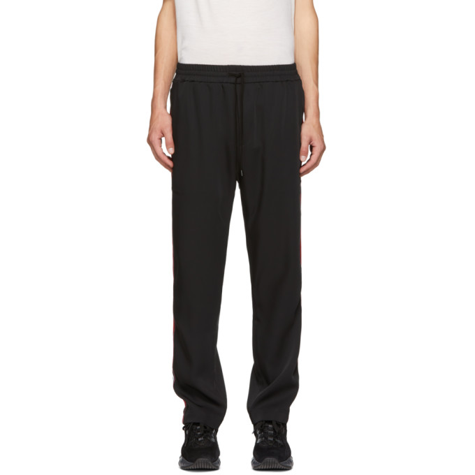 CMMN SWDN Pantalon de survetement noir et rouge Buck
