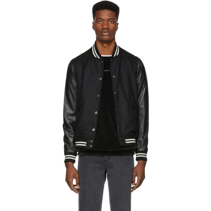 John Elliott Button-Up Bomber Jacket - Black