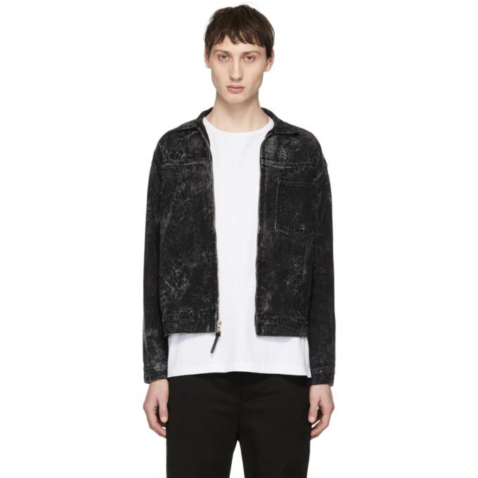 JOHN ELLIOTT Crop Denim Jacket in Crackblack