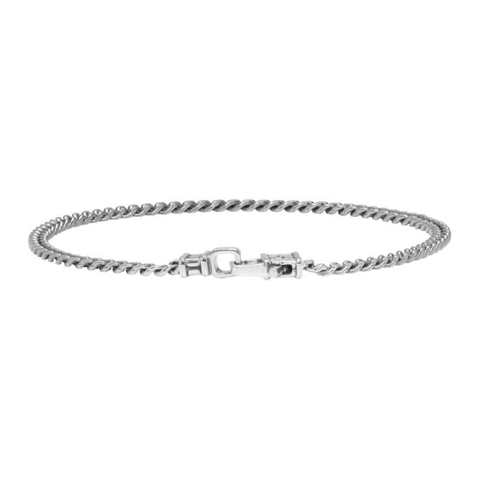 Image of Tom Wood Gunmetal Curb Chain Bracelet