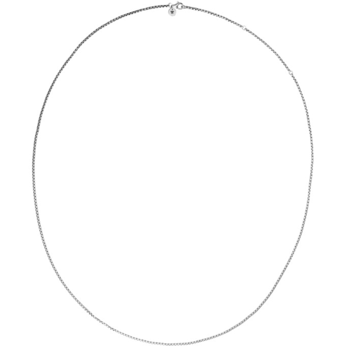 Image of Tom Wood Silver Single Venetian Chain Necklace