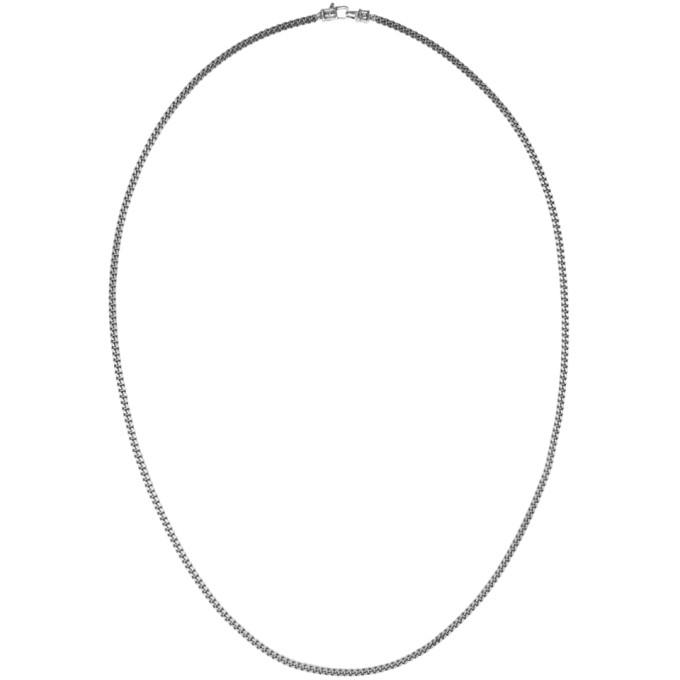 Image of Tom Wood Gunmetal Medium Curb Chain Necklace
