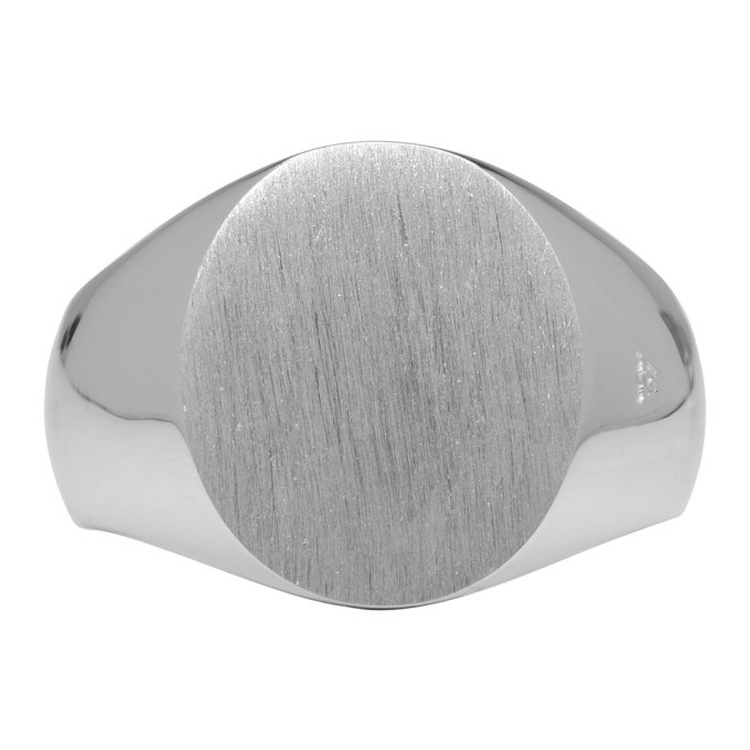 Image of Tom Wood Silver Oval Satin Ring