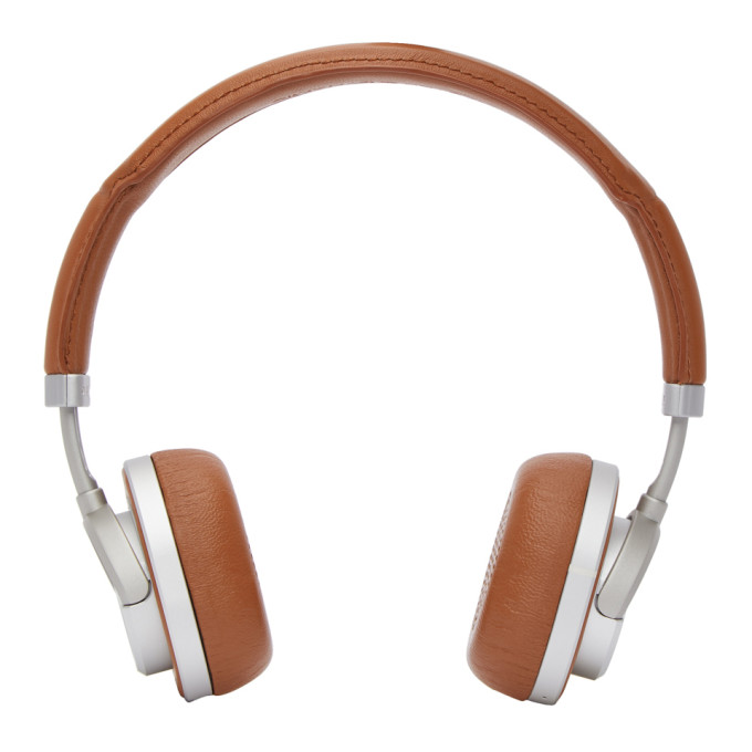 Image of Master & Dynamic Brown & Silver Wireless MW50 Headphones