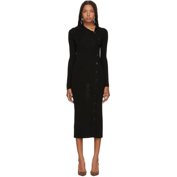 Image of Totême Black Merino Alaria Dress
