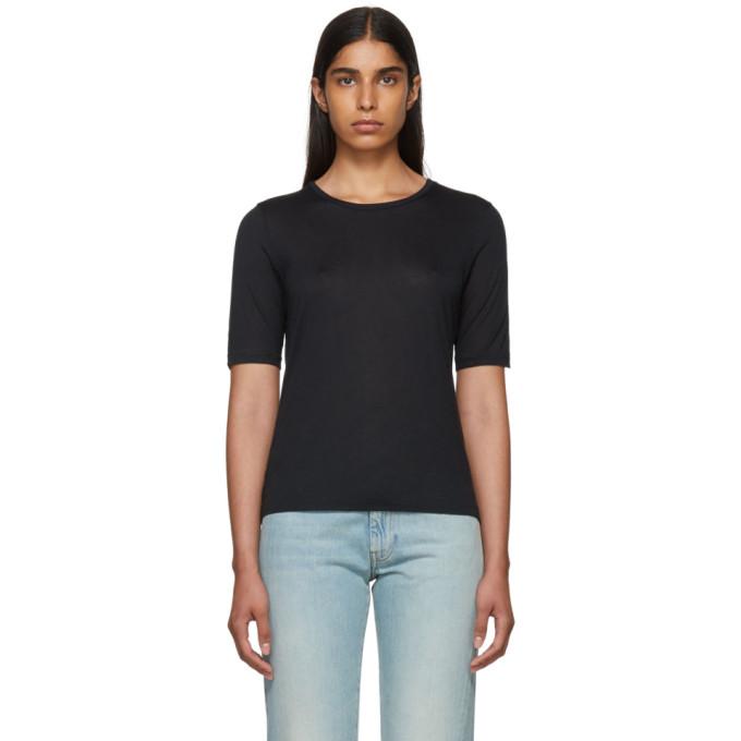 Image of Totême Black Cashmere Stockholm T-Shirt