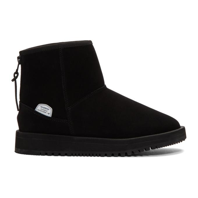 Suicoke Black Mid Els-M Ankle Boots