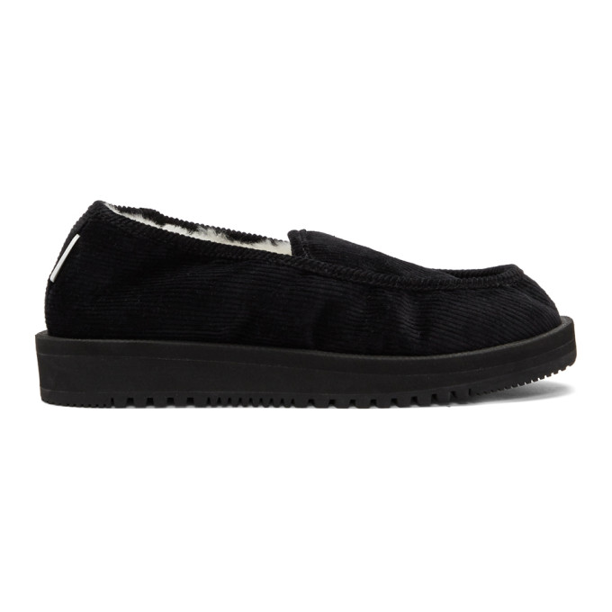 Suicoke Black Shearling-Lined SSD-CoM Loafers