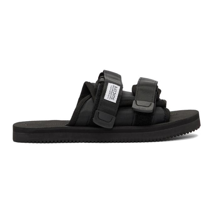 Suicoke Black Moto Sandals