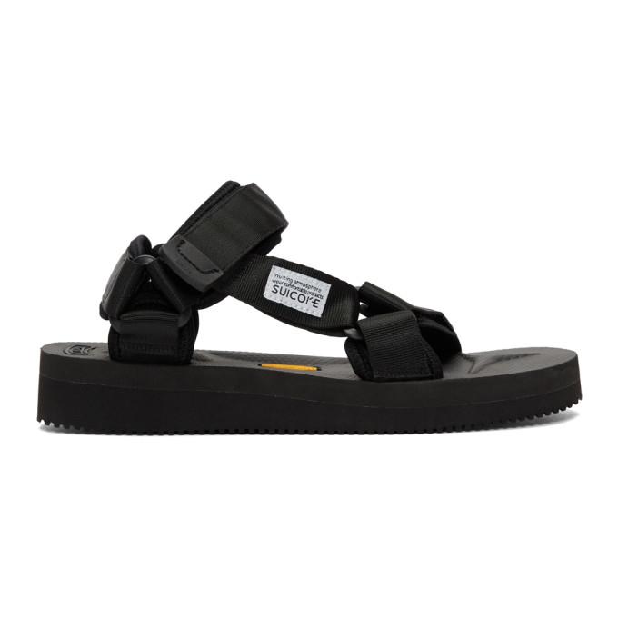 Suicoke Black Depa-V Sandals