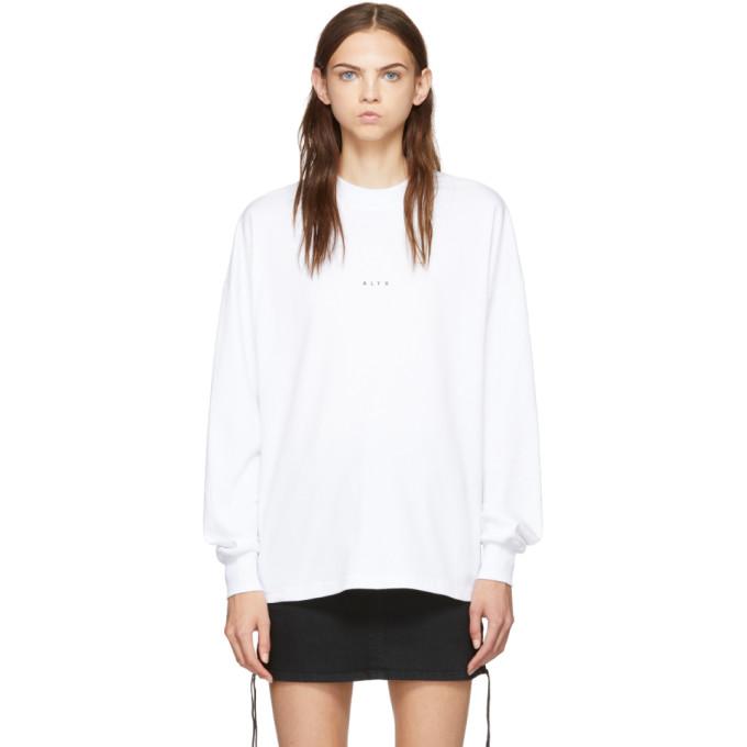 1017 ALYX 9SM White Dropout T Shirt 182776F11000604