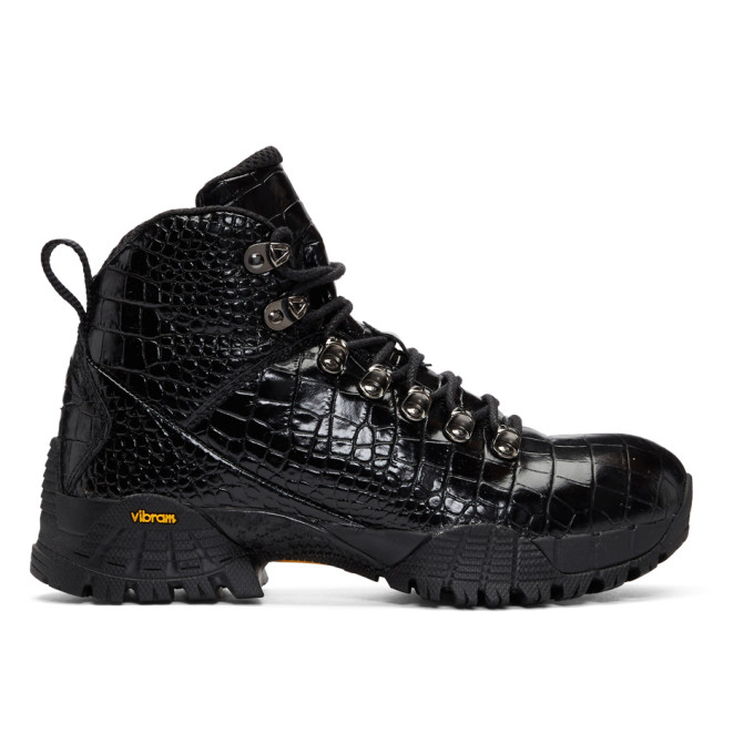 1017 Alyx 9SM Black ROA Croc Hiking Boots