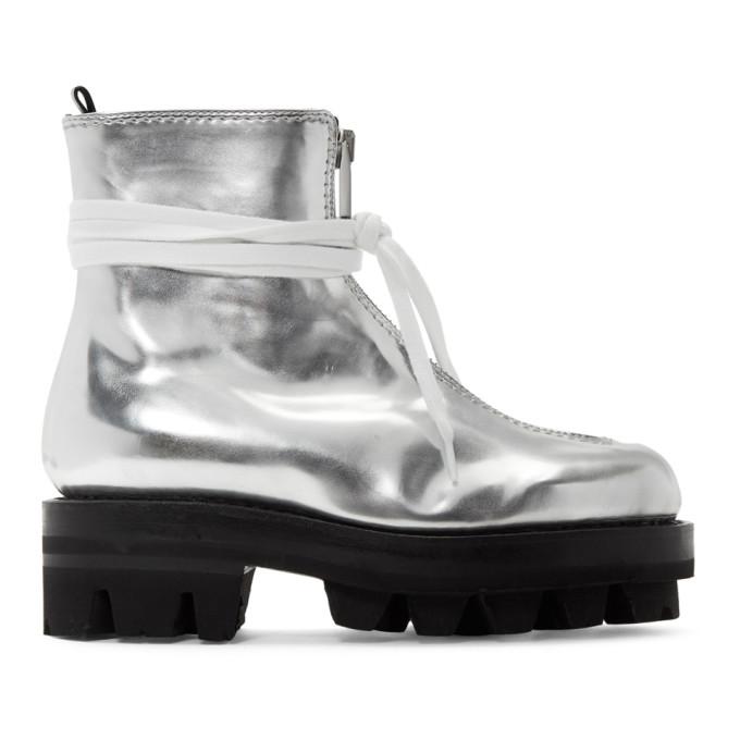 1017 Alyx 9SM Silver Tank Boots