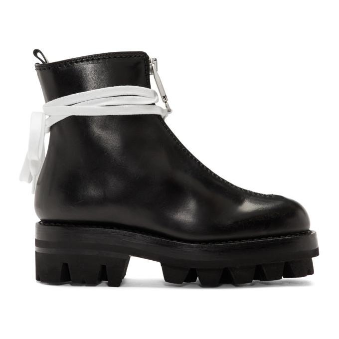 1017 ALYX 9SM Black Tank Boots 182776F11400302