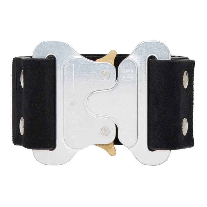 1017 Alyx 9SM Black Leather Buckle Cuff Bracelet
