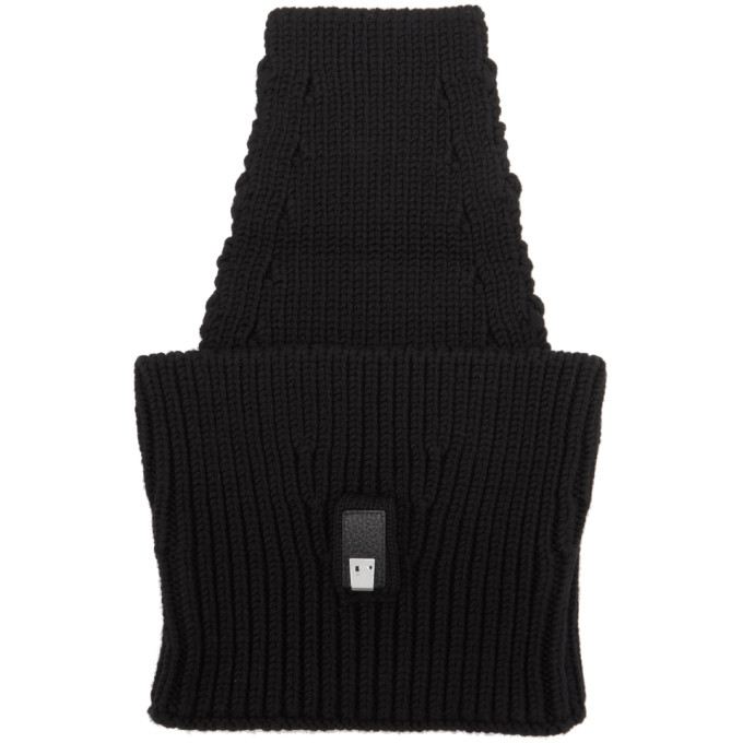 1017 ALYX 9SM Black Lightercap Neck Warmer 182776M15000101