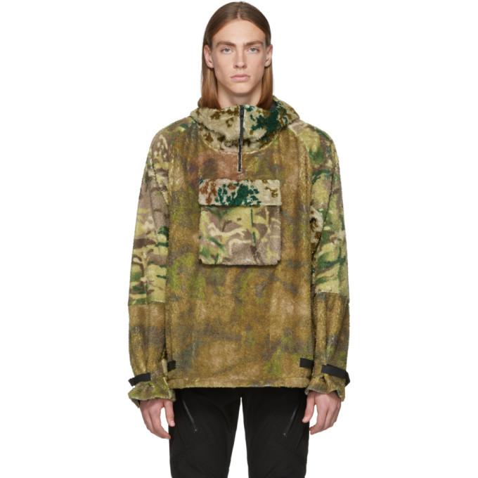 1017 Alyx 9SM Multicolor Camo Polar Fleece Hernik Jacket