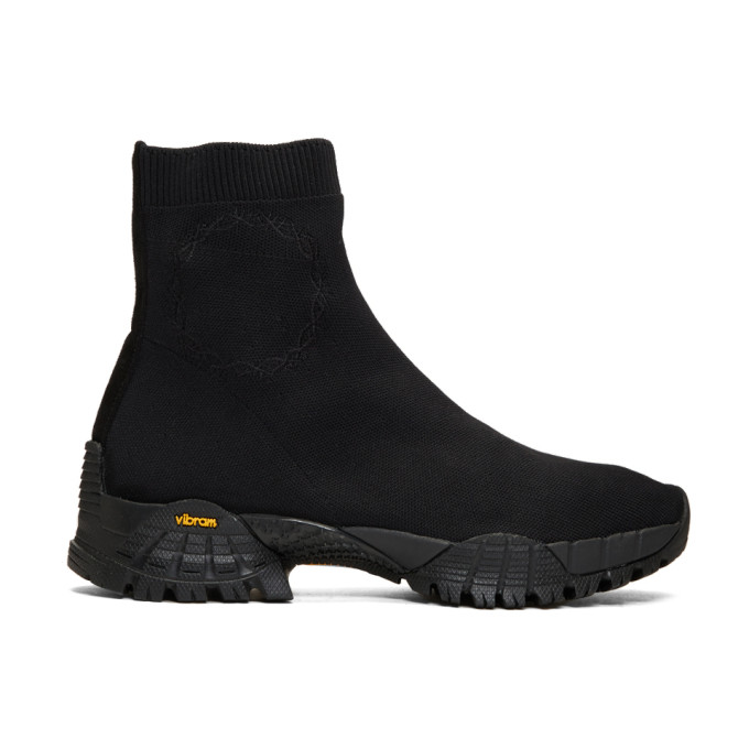 1017 Alyx 9SM Black Knit Hiking Boots