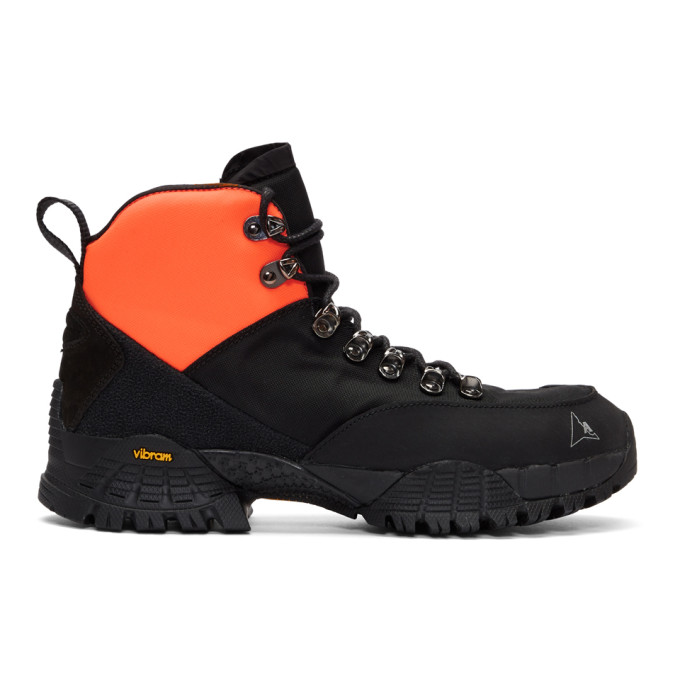 1017 Alyx 9SM Black ROA Lace Up Hiking Boots