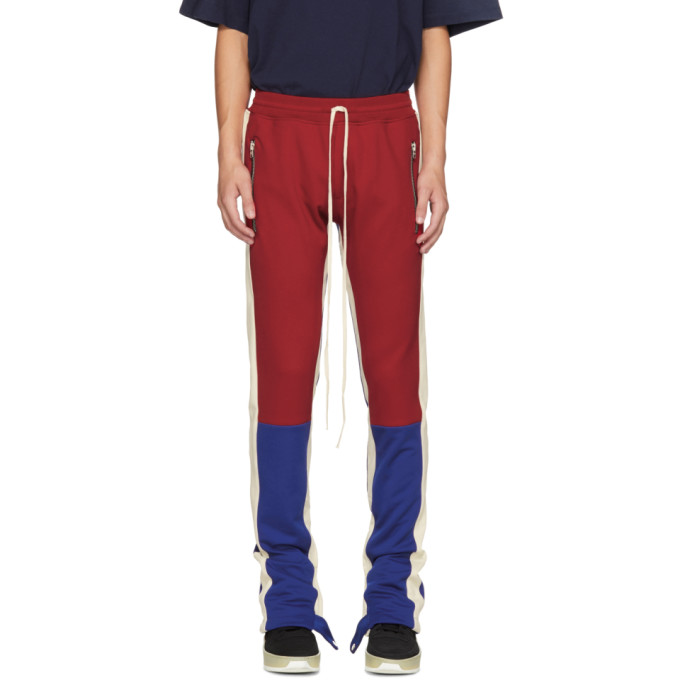 5f5fb6800 Fear of God Red and Blue Motorcross Lounge Pants