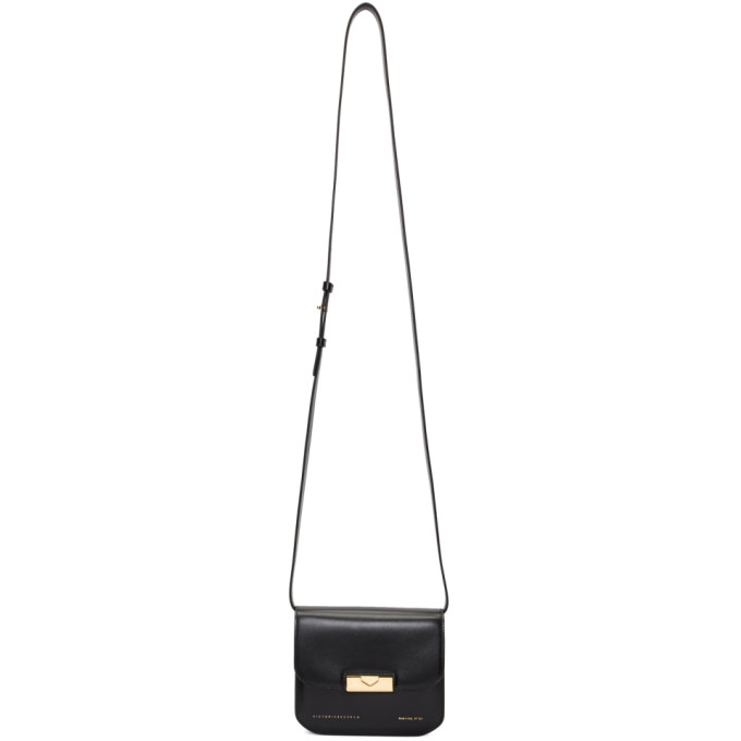 Eva Calfskin Leather Crossbody Bag - Black