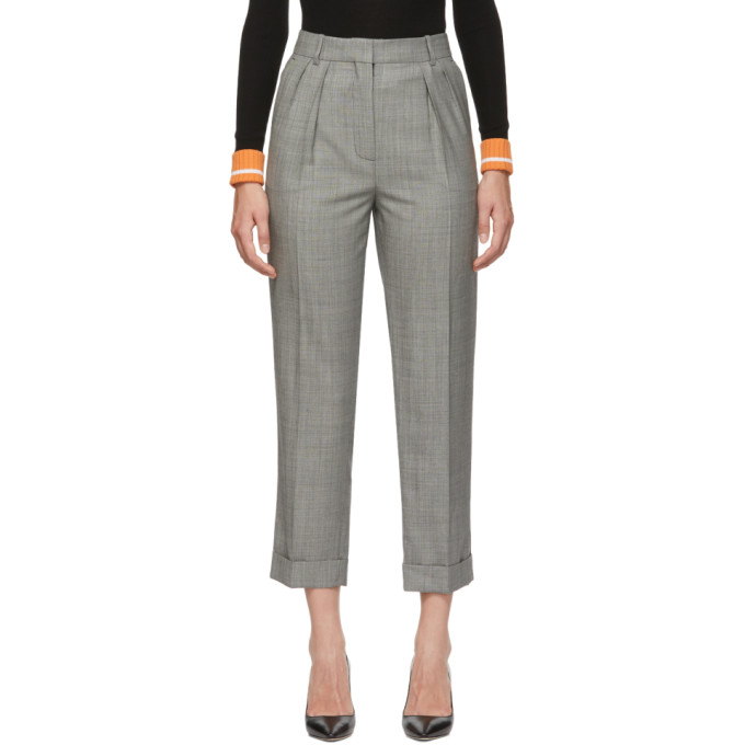 VICTORIA BECKHAM VICTORIA BECKHAM BLACK AND WHITE HIGH WAISTED TROUSERS