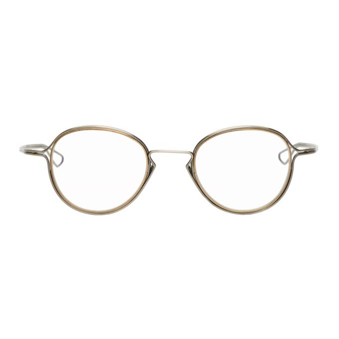 Image of Dita Silver & Gold Haliod Glasses