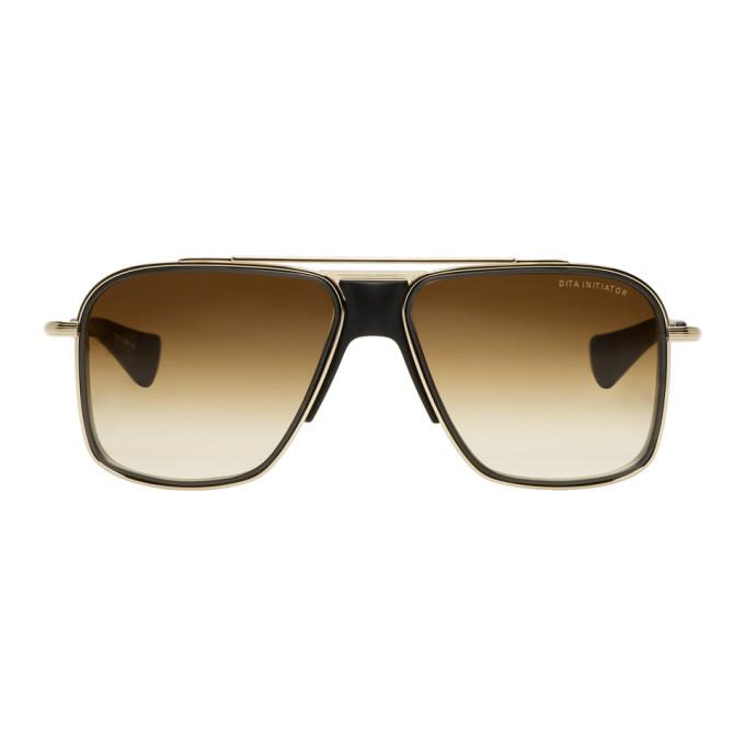 Image of Dita Gold & Black Initiator Sunglasses