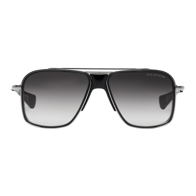 Image of Dita Black & Silver Initiator Sunglasses