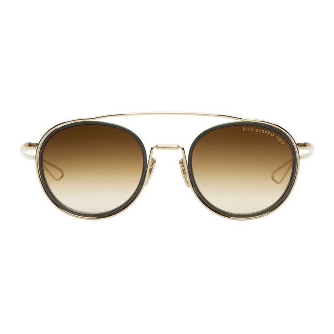 Image of Dita Gold & Black System Two Sunglasses
