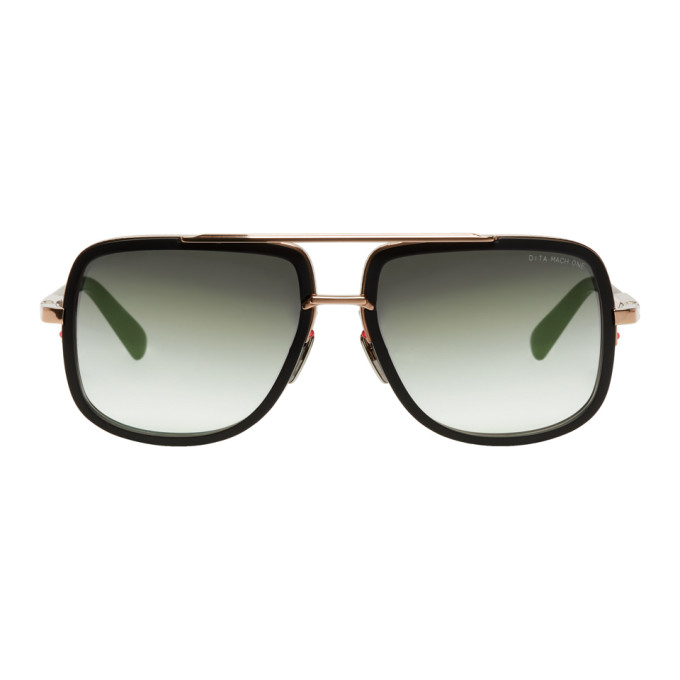 Image of Dita Black & Gold Mach One Sunglasses
