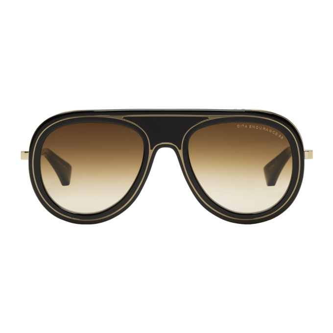 Image of Dita Black & Gold Endurance 88 Sunglasses