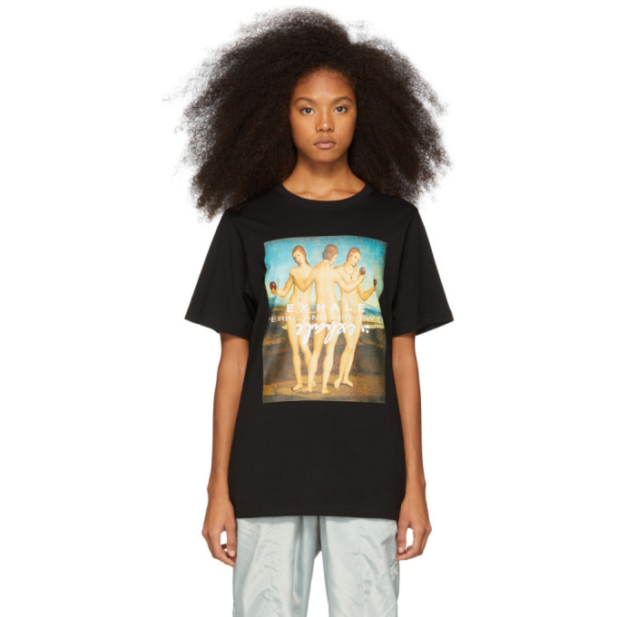 PERKS AND MINI Exhale Print T-Shirt  in Black