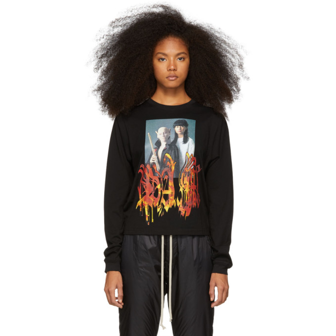 Image of Perks and Mini Black Long Sleeve Wind Instrument T-Shirt