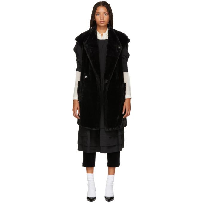 TRICOT COMME DES GARCONS Tricot Comme Des Garcons Black Faux Fur Vest in 1 Black