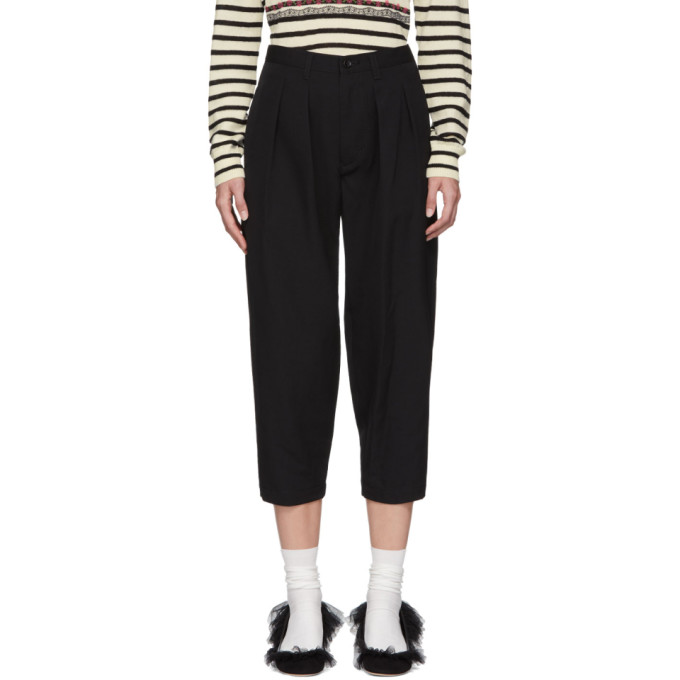 TRICOT COMME DES GARCONS Tricot Comme Des Garcons Black Wool Pleated Trousers in 1 Black