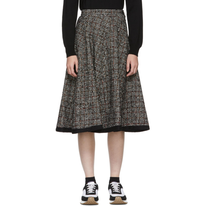 Tweed A-Line Skirt, Black