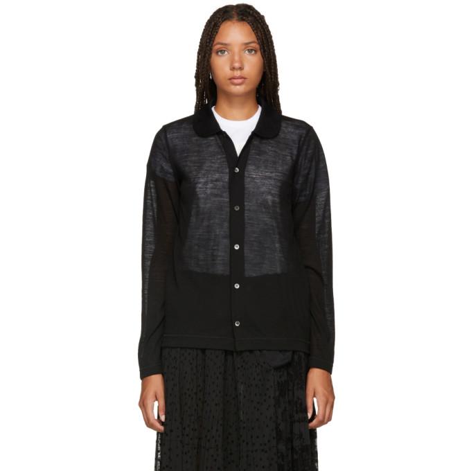TRICOT COMME DES GARCONS Tricot Comme Des Garcons Black Collar Cardigan in 1 Black