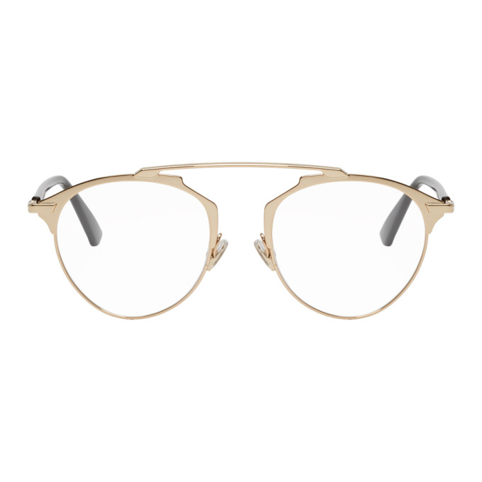 Dior Gold So Real Optical Glasses