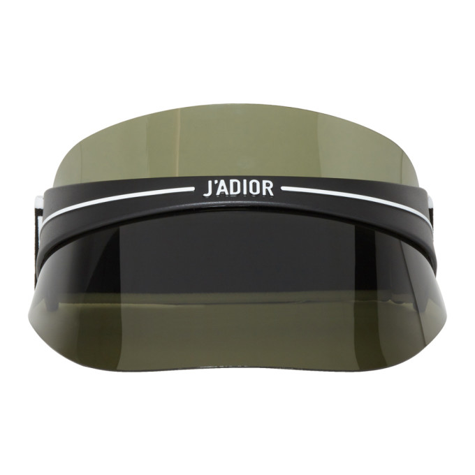 Image of Dior Black & Grey 'DiorClub1' Visor