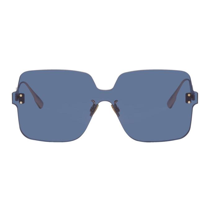 Image of Dior Blue Color Quake 1 Sunglasses