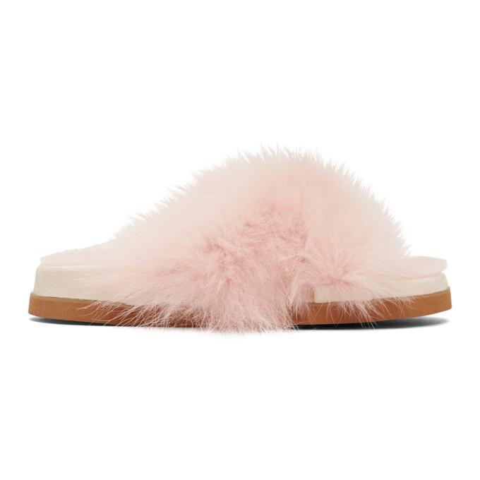 Mr & Mrs Italy Pink Fur Sandals