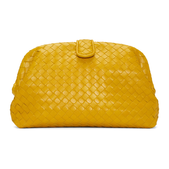 Bottega Veneta Yellow Lauren Intrecciato Clutch